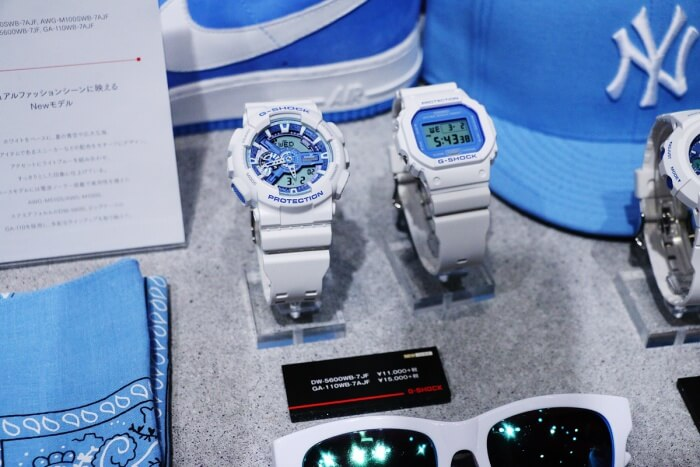 White and Light Blue G-Shock Watches