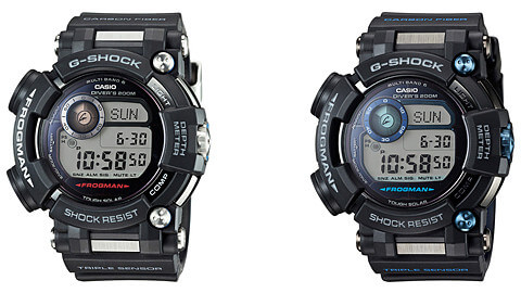 G-Shock Frogman GWF-D1000 and GWF-D1000B with Depth Meter
