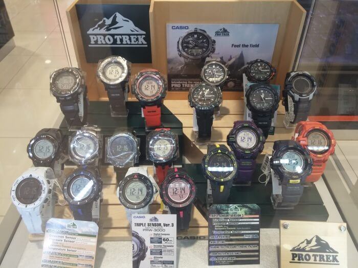 Casio Pro Trek watches at Aeon Mall Phnom Penh