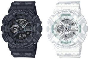 G-Shock Tribal Pattern Series GA-110TP-1A & GA-110TP-7A