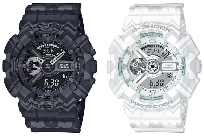 G-Shock Tribal Pattern Series GA-110TP-1A & GA-110TP-7A