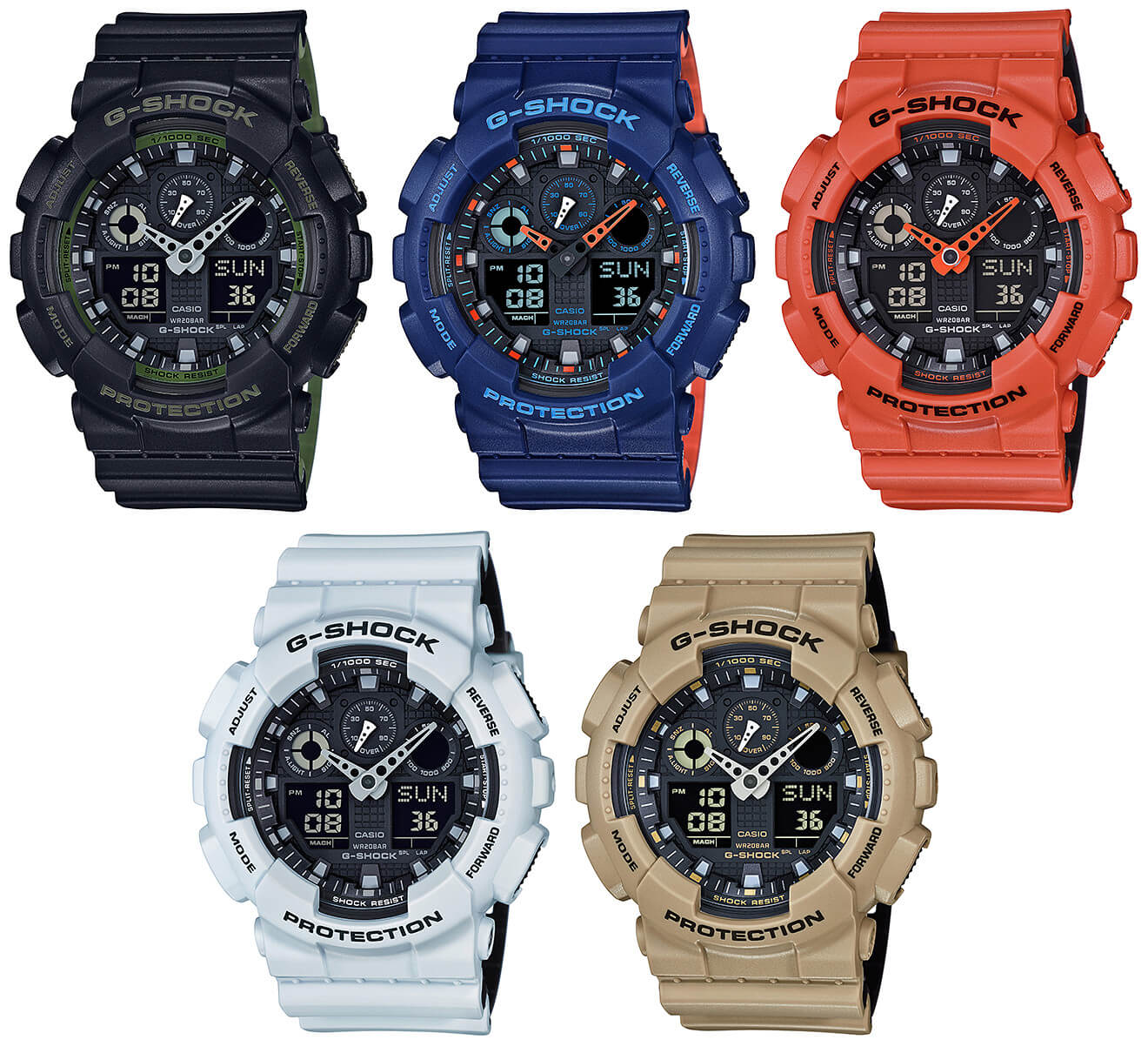 04a7b7b05e5 G-Shock GA-100L Layered Band Military Color Series – G-Central G ...