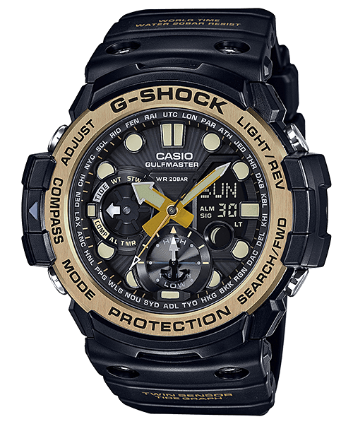 G-Shock Gulfmaster GN-1000GB-1A Black and Gold