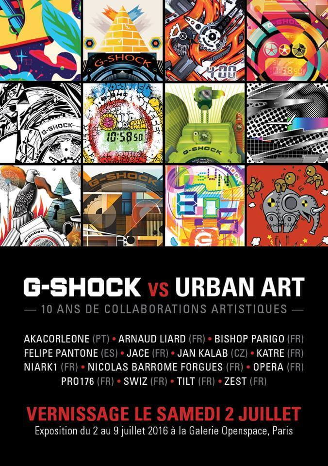 G-Shock vs Urban Art in Galerie Openspace in Paris France