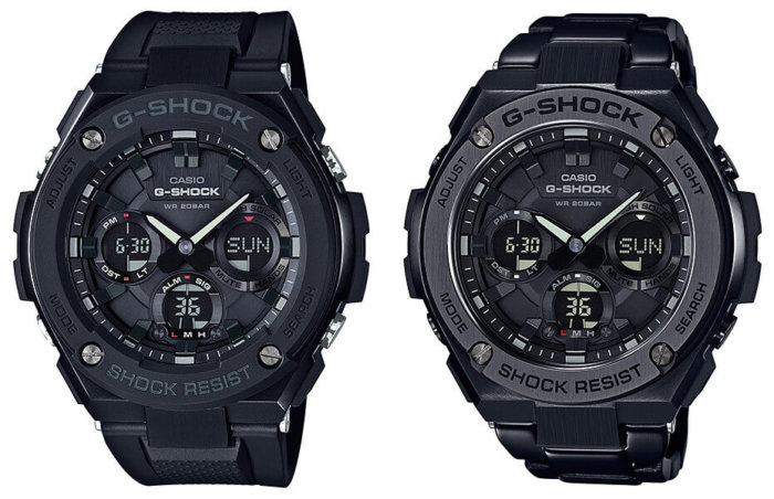 G-Shock G-STEEL GST-S100G-1B and GST-S110BD-1B