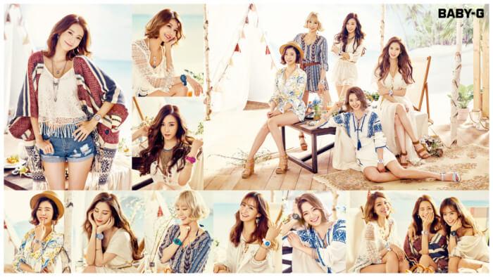 Girls Generation Casio Baby-G Summer 2016 Wallpaper Collage