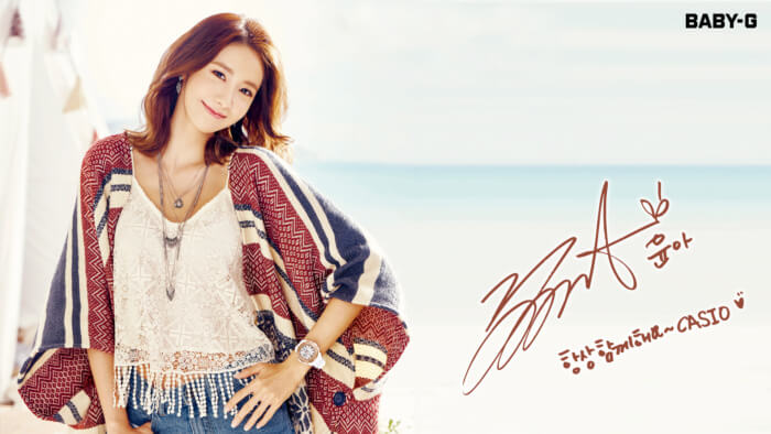 Girls Generation Casio Baby-G Summer 2016 Wallpaper Yoona