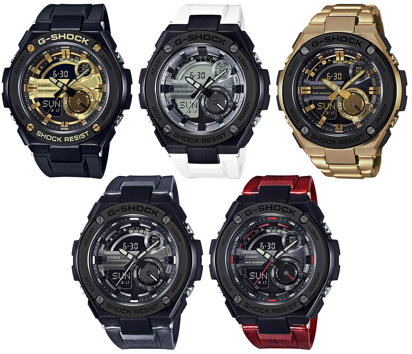 2a0b0fa0df3 New G-Shock G-STEEL GST-210 Watches  Black   Gold