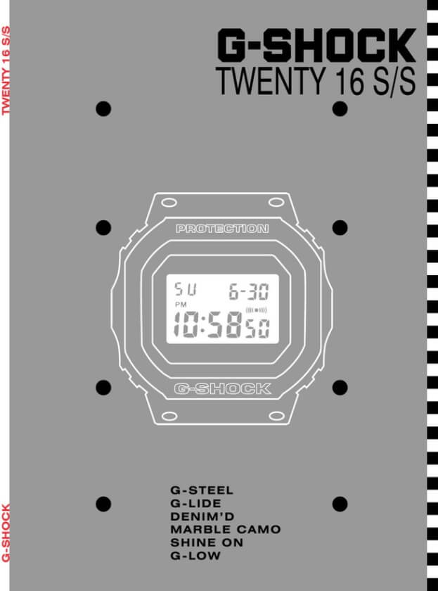 G-Shock Twenty 16 S/S Catalog 2016