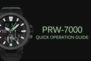 Casio Pro Trek PRW-7000 Quick Guide Video