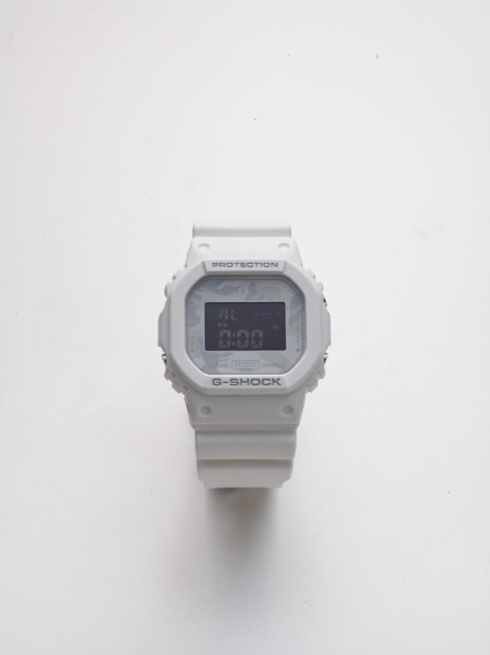 AKM 10th Anniversary x G-Shock DW-5600E White Camouflage Watch
