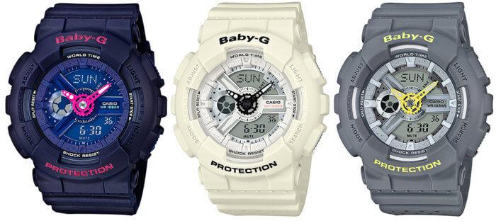 Casio Baby-G Punching Pattern BA-110PP-2AJF BA-110PP-7AJF BA-110PP-8AJF
