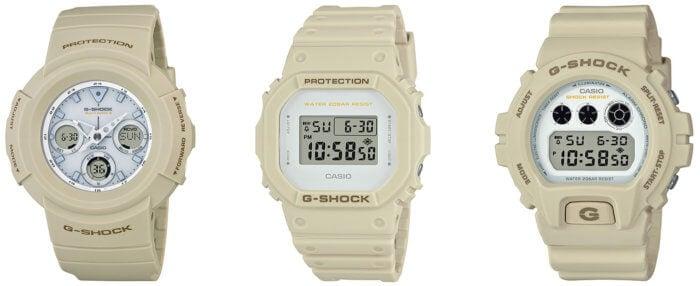 G-Shock AWG-M510SEW-7AJF DW-5600EW-7JF DW-6900EW-7JF
