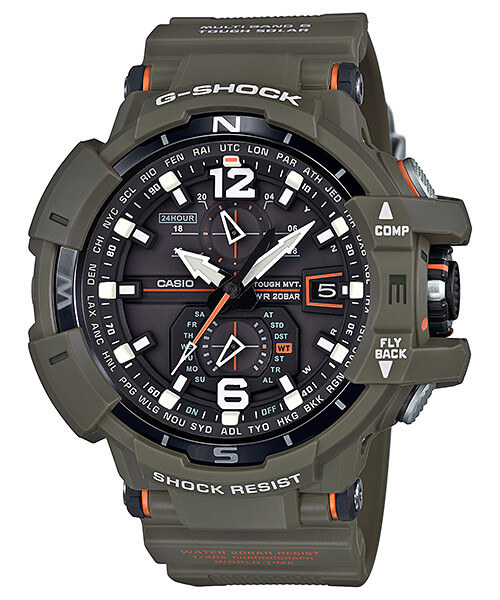 G-Shock GW-A1100KH-3A Master in Olive Drab Gravitymaster