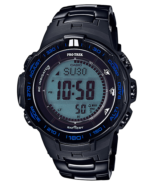 Casio Pro Trek PRW-3100YT-1 Blue Moment with Titanium Metal Band