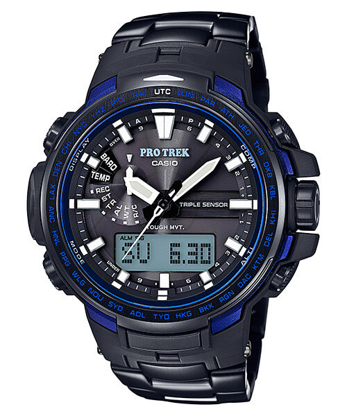 Casio Pro Trek PRW-6100YT-1B Blue Moment with Titanium Metal Band