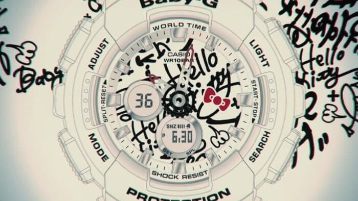 Baby-G x Hello Kitty 2016 BA-120 70s Graffiti Watch