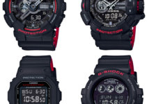 G-Shock Black and Red Series DW-5600HR-1JF GW-6900HR-1JF GA-110HR-1AJF GA-400HR-1AJF