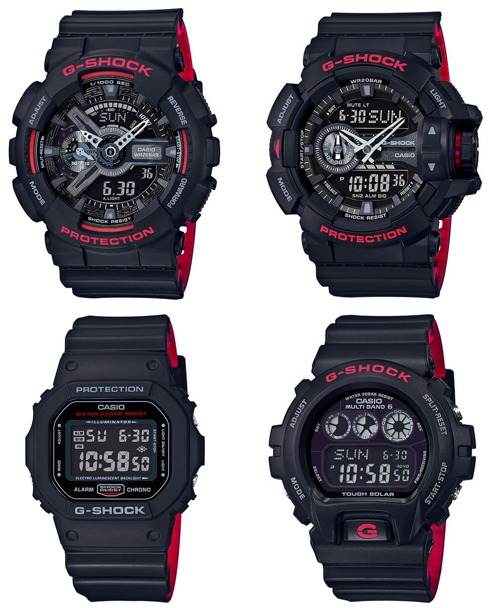 da408068e3 G-Shock Black and Red Heritage Layered Band Series – G-Central G ...