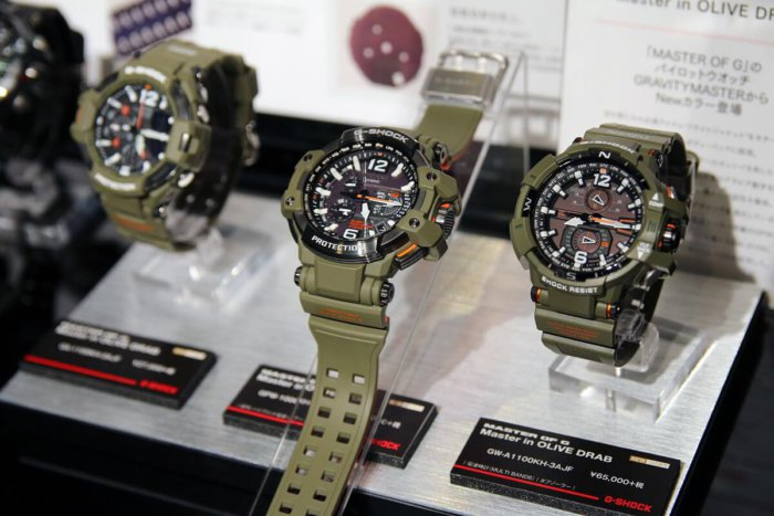G-Shock Master in Olive Drab GPW-1000KH-3AJF GW-A1100KH-3AJF GA-1100KH-3AJF