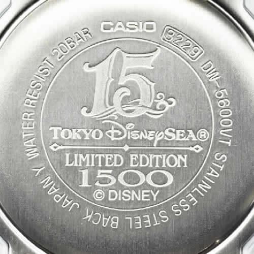 Tokyo DisneySea 15th Anniversary G-Shock DW-5600 Case Back