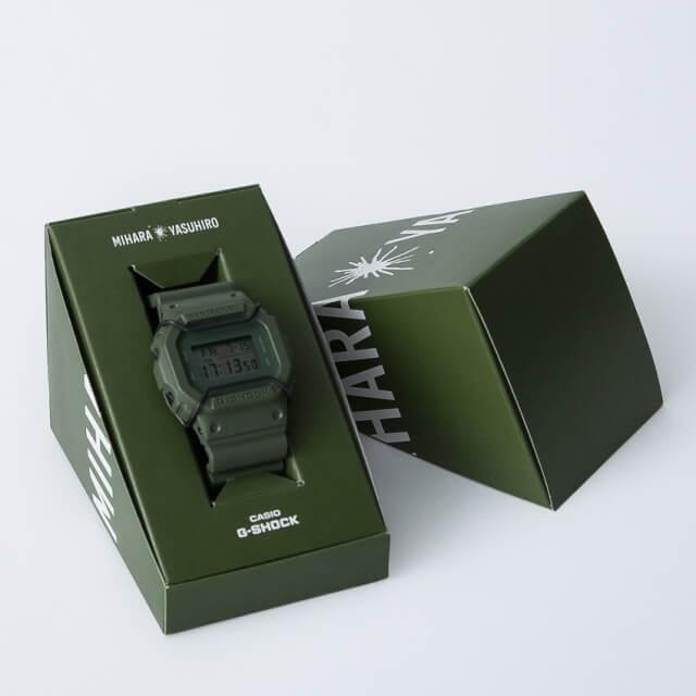 Mihara Yasuhiro G-shock DW-5600 Green Khaki Box