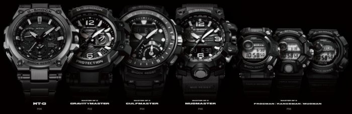 Casio G-Shock MT-G and Master of G Lookbook 2016