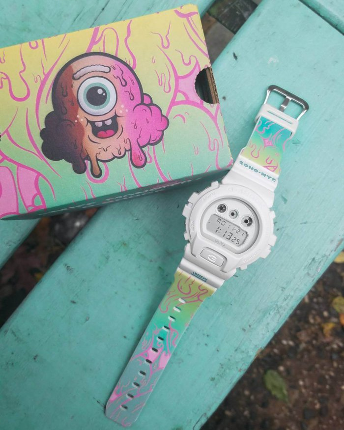Buff Monster x G-Shock DW6900-7BUFF Watch