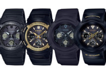 G-Shock AWG-M Basic Black and Black & Gold