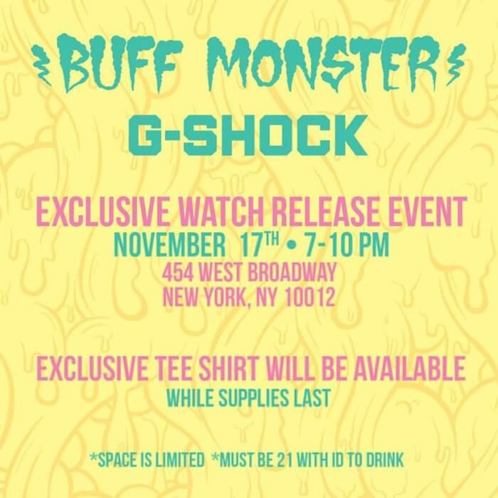Buff Monster x G-Shock Event