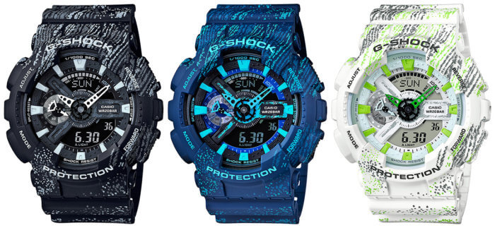 G-Shock GA-110TX-1A GA-110TX-2A GA-110TX-7A Scratch Textile Pattern