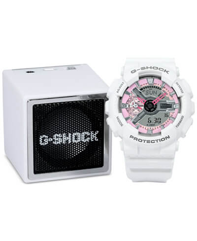 G-Shock S Series GMAS110MP7GB with Bluetooth Speaker