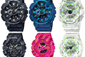 G-Shock GA-110TX and Baby-G BA-110TX Scratch Textile Pattern