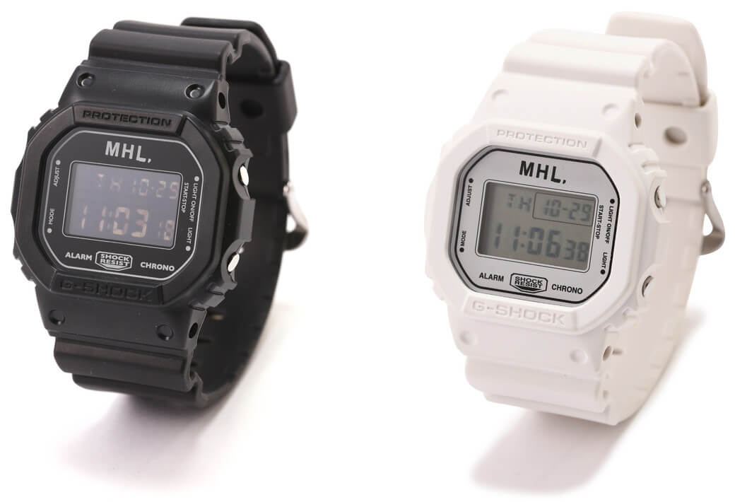 MHL x G-Shock DW-5600 Black   White Pair – G-Central G-Shock Watch ... d7dfc9abac