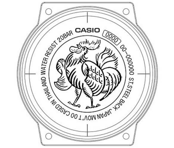 G-Shock Year of the Rooster Case Back