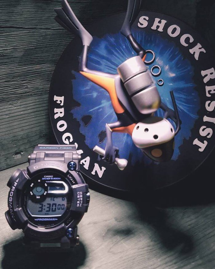 G-Shock Frogman Sculpture