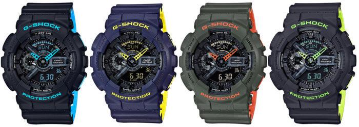 G-Shock GA-110LN Layered Neon Color GA-110LN-1A GA-110LN-2A GA-110LN-3A GA-110LN-8A