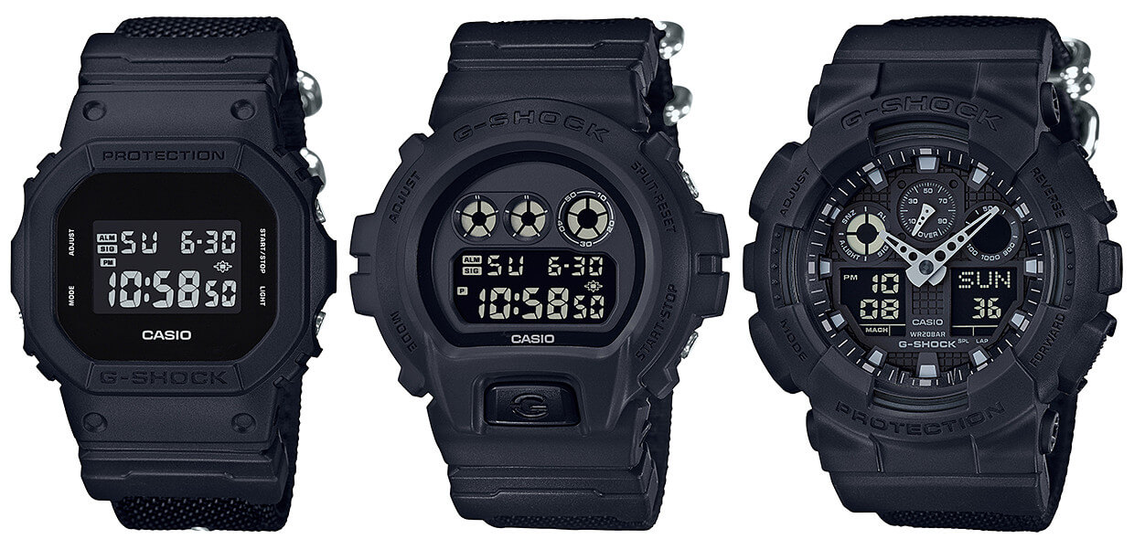 gshock military black series with cordura nylon band � g