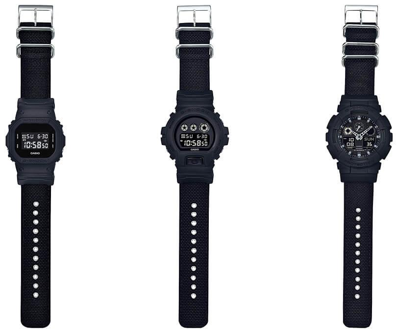 dd5d4a04ddbc G-Shock Military Black Series with Cordura Nylon Band – G-Central G ...