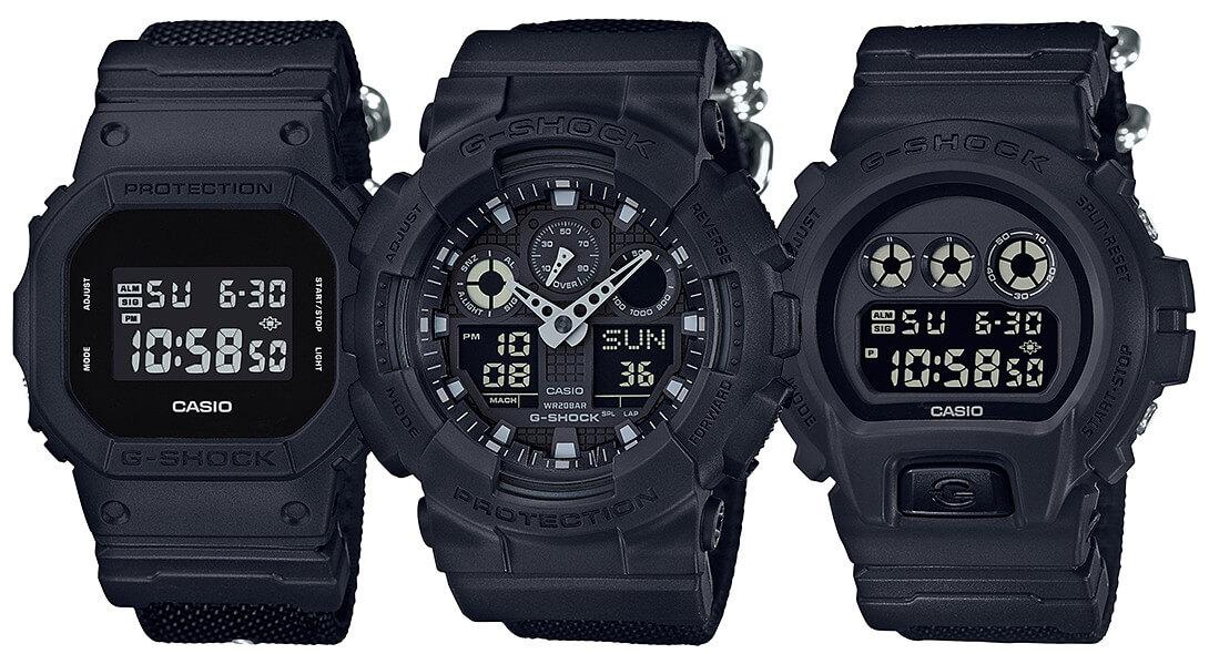 ca5da2e9f806 G-Shock Military Black Series with Cordura Nylon Band – G-Central G-Shock  Watch Fan Blog