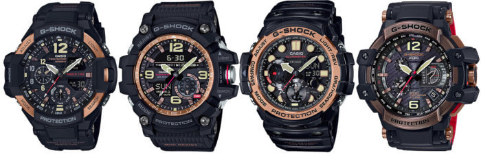 G-Shock Rose Gold Master of G Collection GA-1100RG-1A GG-1000RG-1A GN-1000RG-1A GPW-1000RG-1A
