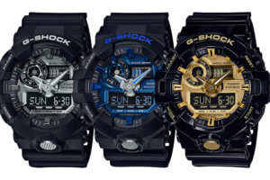 G-Shock GA-710 Garish Color Series with Metallic Face, Blue GA-700-7A & White GA-700-7A