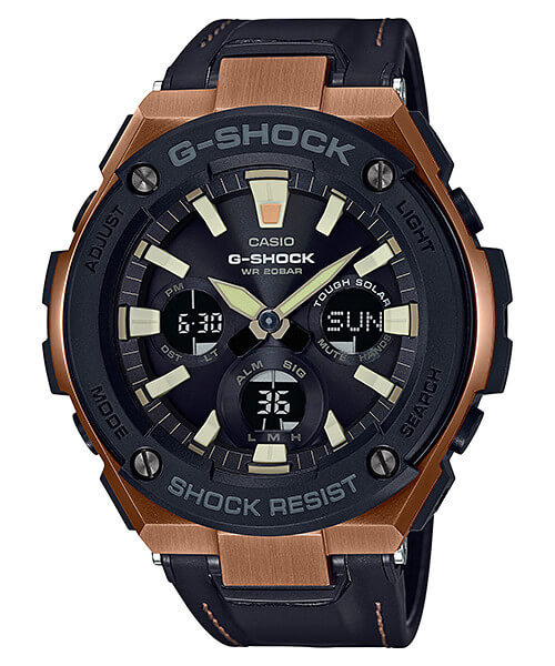 G-Shock G-STEEL GST-S120L-1A Tough Leather Band