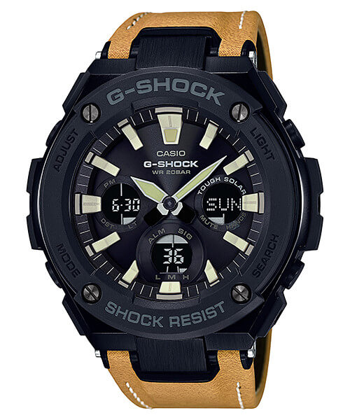 G-Shock G-STEEL GST-S120L-1B Tough Leather Band
