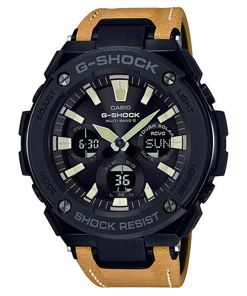 G-Shock G-STEEL GST-W120L-1BJF Tough Leather Band