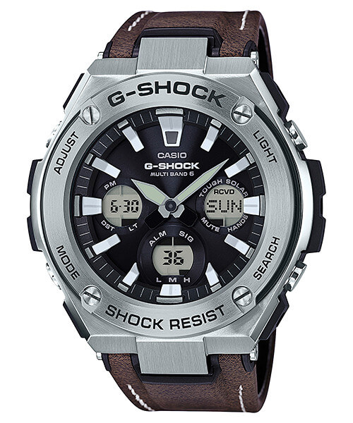 G-Shock G-STEEL GST-W130L-1AJF Tough Leather Band
