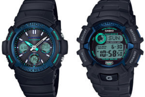 G-Shock AWG-M100SF-1BJR GW-2310FB-1BJR Fire Package 2017