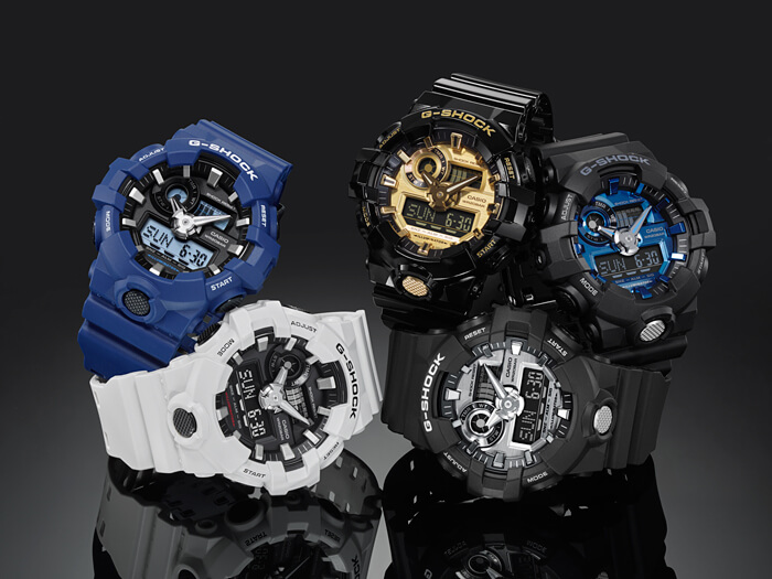 952a4acdd G-Shock GA-710 Garish Color Series with Metallic Face
