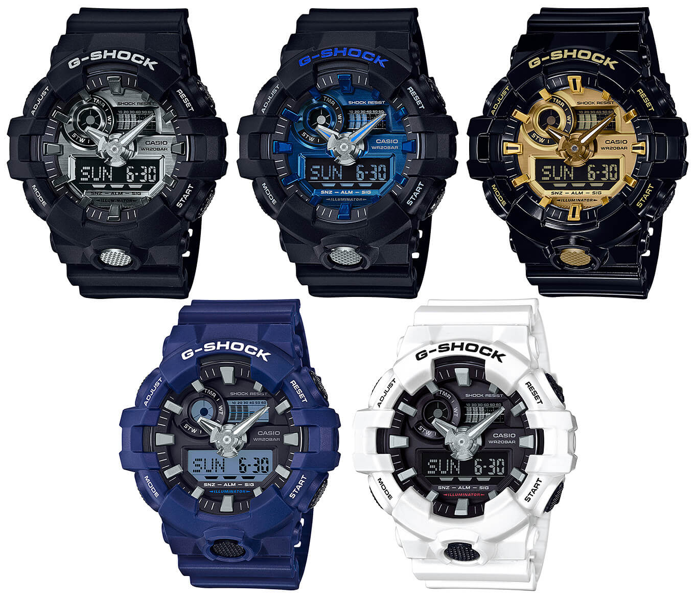 918828e18749 G-Shock GA-710 Garish Color Series with Metallic Face