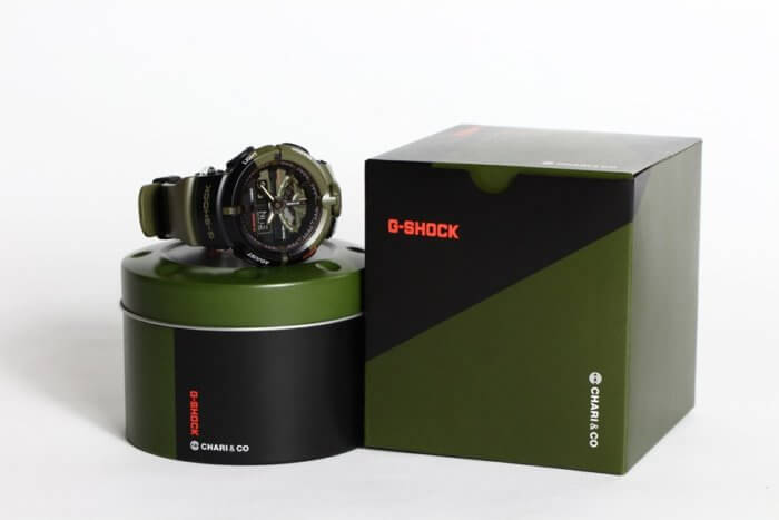 Chari & Co x G-Shock GA500K-3A Collaboration Watch and Box